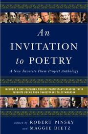 Cover of: An invitation to poetry | Robert Pinsky, Maggie Dietz, Rosemarie Ellis