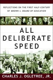 Cover of: All Deliberate Speed | Charles J. Ogletree