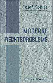 Cover of: Moderne Rechtsprobleme