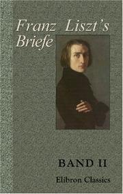 Cover of: Letters of Franz Liszt