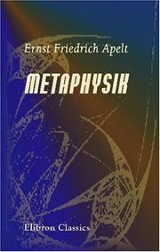 Cover of: Metaphysik