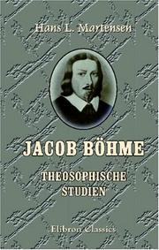Cover of: Jacob Böhme