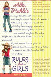 Cover of: Allie Finkle's Rules For Girls (Book 1) (Allie Finkle)