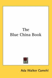 The blue-china book by Ada Walker Camehl