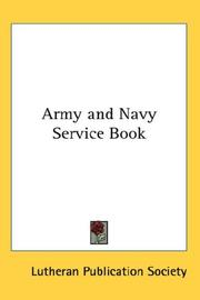 Cover of: Army and Navy Service Book | Lutheran Publication Society