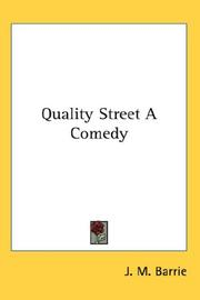 Cover of: Quality Street a Comedy