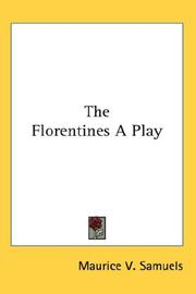 Cover of: The Florentines A Play