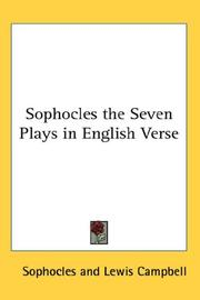 Cover of: Sophocles the Seven Plays in English Verse