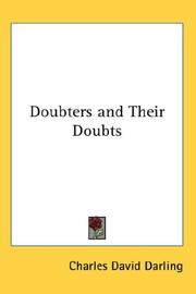 Cover of: Doubters and Their Doubts | Charles David Darling