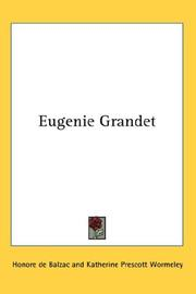 Cover of: Eugenie Grandet by Honoré de Balzac