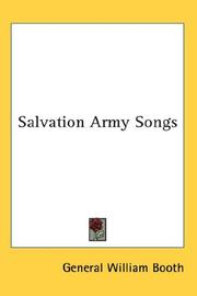 Cover of: Salvation Army Songs