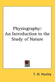 Cover of: Physiography