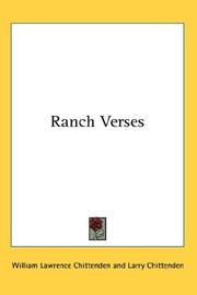 Cover of: Ranch Verses | William Lawrence Chittenden