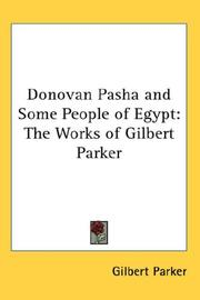 Donovan Pasha and some people of Egypt by Gilbert Parker