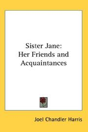 Cover of: Sister Jane | Joel Chandler Harris
