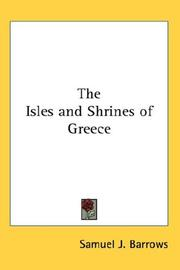 Cover of: The isles and shrines of Greece