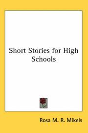 Cover of: Short Stories for High Schools