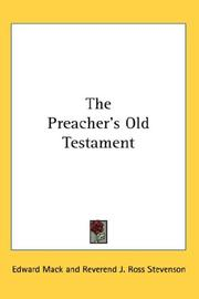 Cover of: The Preacher's Old Testament