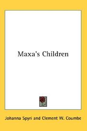 Cover of: Maxa's Children
