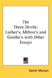 Cover of: The three devils