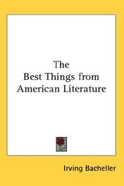 Cover of: Best things from American literature