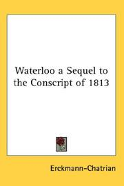 Cover of: Waterloo a Sequel to the Conscript of 1813