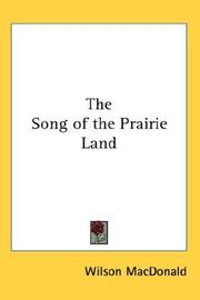 Cover of: The song of the prairie land