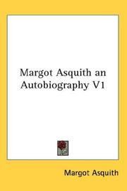 Cover of: Margot Asquith an Autobiography V1