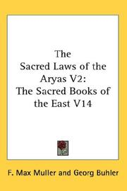 Cover of: The Sacred Laws of the Aryas V2 |