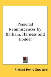 Cover of: Personal Reminiscences by Barham, Harness and Hodder
