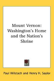 Cover of: Mount Vernon