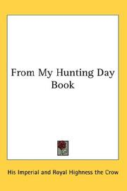 Cover of: From My Hunting Day Book