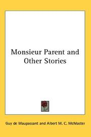 Cover of: Monsieur Parent and Other Stories