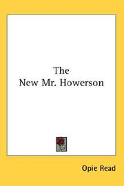 Cover of: The New Mr. Howerson | Opie Read