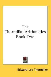 Cover of: The Thorndike Arithmetics Book Two