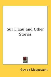Cover of: Sur L'eau And Other Stories