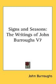 Cover of: Signs and Seasons | John Burroughs
