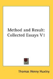 Cover of: Method and Result