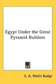Cover of: Egypt Under the Great Pyramid Builders