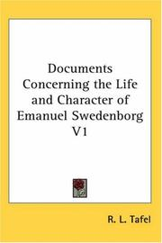 Cover of: Documents Concerning the Life and Character of Emanuel Swedenborg V1