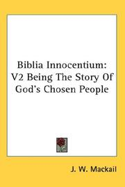Cover of: Biblia Innocentium by J. W. Mackail