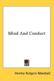 Cover of: Mind And Conduct