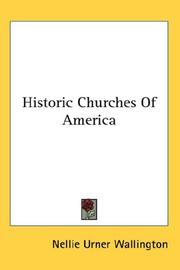 Cover of: Historic Churches Of America