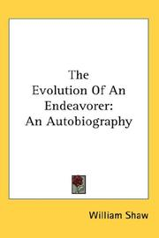 Cover of: The Evolution Of An Endeavorer