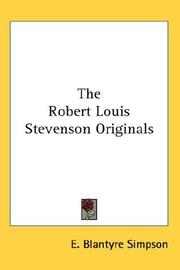 Cover of: The Robert Louis Stevenson Originals