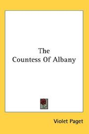 Cover of: The Countess of Albany