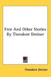 Cover of: Free And Other Stories By Theodore Dreiser
