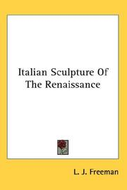 Cover of: Italian Sculpture of the Renaissance