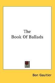 Cover of: The Book Of Ballads | Bon Gaultier