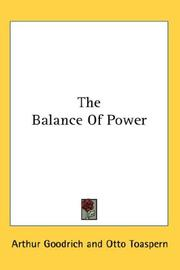 Cover of: The Balance of Power